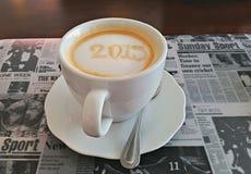 Νέος καφές έτους Στοκ εικόνα με δικαίωμα ελεύθερης χρήσης
