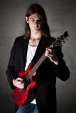 Νέος κιθαρίστας Στοκ Εικόνες