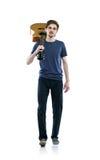 Νέος κιθαρίστας Στοκ εικόνα με δικαίωμα ελεύθερης χρήσης