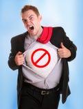 Νέος 0 λυσσασμένος το πουκάμισό του - σύμβολο κυκλοφορίας σε το Στοκ εικόνα με δικαίωμα ελεύθερης χρήσης