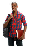 Νέος μαύρος σπουδαστής Στοκ φωτογραφία με δικαίωμα ελεύθερης χρήσης