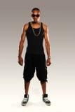 Νέος μαύρος χορευτής χιπ χοπ Στοκ εικόνες με δικαίωμα ελεύθερης χρήσης