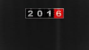 2016 νέος μετρητής έτους Στοκ Εικόνες
