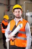 Νέος μηχανικός στο εργοστάσιο Στοκ Εικόνες