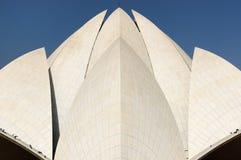 νέος ναός λωτού του Δελχί Στοκ εικόνα με δικαίωμα ελεύθερης χρήσης