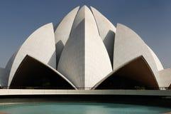 νέος ναός λωτού του Δελχί Στοκ Εικόνα