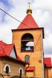 Νέος ναός τούβλου Θεού, που χτίζεται πρόσφατα στοκ εικόνες