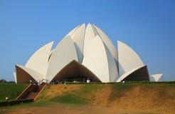 νέος ναός λωτού του Δελχί Στοκ Εικόνες