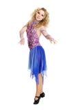 Νέος ξανθός χορός κοριτσιών πορτρέτου. Στοκ Φωτογραφίες