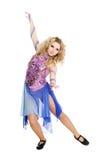 Νέος ξανθός χορός κοριτσιών. Στοκ φωτογραφία με δικαίωμα ελεύθερης χρήσης