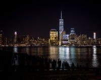 νέος ορίζοντας Υόρκη νύχτας Στοκ Φωτογραφίες