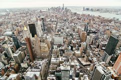 νέος ορίζοντας Υόρκη πόλεων στοκ εικόνες