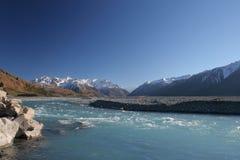 νέος ποταμός Ζηλανδία rakaia το& Στοκ Εικόνα