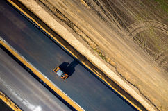 νέος δρόμος κατασκευής Στοκ φωτογραφία με δικαίωμα ελεύθερης χρήσης