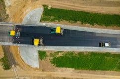 νέος δρόμος κατασκευής Στοκ Εικόνα