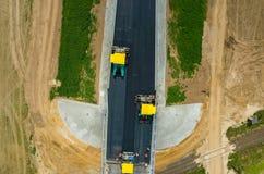 νέος δρόμος κατασκευής Στοκ φωτογραφίες με δικαίωμα ελεύθερης χρήσης