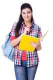 Νέος σπουδαστής με τα βιβλία Στοκ Φωτογραφίες