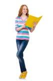 Νέος σπουδαστής με τα βιβλία Στοκ Εικόνα