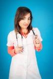 Νέος σπουδαστής της ιατρικής με το στηθοσκόπιο Στοκ Φωτογραφία