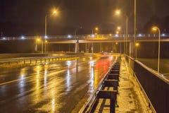 Τρόπος δυτικών διασταυρώσεων κυκλικής κυκλοφορίας σε Vilnius Στοκ φωτογραφία με δικαίωμα ελεύθερης χρήσης
