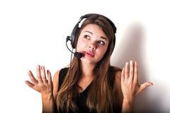 νέος τηλεφωνικός χειριστής υποστήριξης Στοκ φωτογραφίες με δικαίωμα ελεύθερης χρήσης