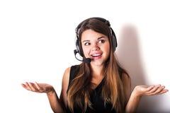νέος τηλεφωνικός χειριστής υποστήριξης Στοκ φωτογραφία με δικαίωμα ελεύθερης χρήσης