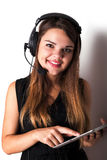 νέος τηλεφωνικός χειριστής υποστήριξης Στοκ Φωτογραφία