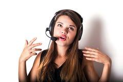 νέος τηλεφωνικός χειριστής υποστήριξης Στοκ εικόνες με δικαίωμα ελεύθερης χρήσης