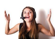 νέος τηλεφωνικός χειριστής υποστήριξης Στοκ Εικόνες