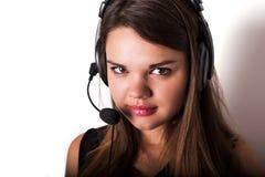 νέος τηλεφωνικός χειριστής υποστήριξης Στοκ εικόνα με δικαίωμα ελεύθερης χρήσης