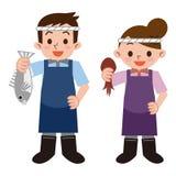 Νέος υπάλληλος fishmonger Στοκ εικόνες με δικαίωμα ελεύθερης χρήσης