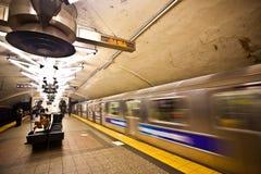 νέος υπόγειος Υόρκη πόλε&om στοκ εικόνα