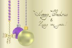 Νέος χαιρετισμός έτους και Χριστουγέννων Στοκ φωτογραφία με δικαίωμα ελεύθερης χρήσης