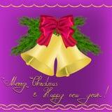 Νέος χαιρετισμός έτους και Χριστουγέννων Στοκ Εικόνες