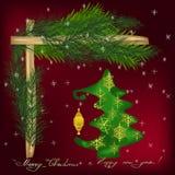 Νέος χαιρετισμός έτους και Χριστουγέννων απεικόνιση αποθεμάτων
