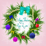Νέος χαιρετισμός έτους και Χριστουγέννων Στοκ εικόνα με δικαίωμα ελεύθερης χρήσης