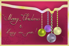 Νέος χαιρετισμός έτους και Χριστουγέννων Στοκ φωτογραφίες με δικαίωμα ελεύθερης χρήσης