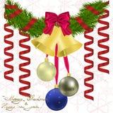 Νέος χαιρετισμός έτους και Χριστουγέννων Στοκ εικόνες με δικαίωμα ελεύθερης χρήσης