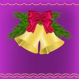 Νέος χαιρετισμός έτους και Χριστουγέννων Στοκ Εικόνα