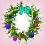 Νέος χαιρετισμός έτους και Χριστουγέννων Στοκ Φωτογραφία