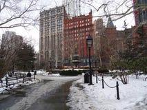 νέος χειμώνας Υόρκη στοκ εικόνες