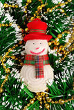 Νέος χιονάνθρωπος παιχνιδιών έτους και Χριστουγέννων Στοκ φωτογραφία με δικαίωμα ελεύθερης χρήσης