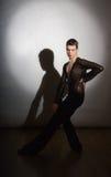 Νέος χορευτής αιθουσών χορού Στοκ εικόνες με δικαίωμα ελεύθερης χρήσης
