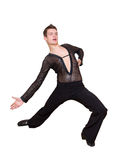 Νέος χορευτής αιθουσών χορού Στοκ Εικόνες