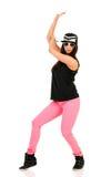 Νέος χορευτής χιπ χοπ brunette Στοκ εικόνα με δικαίωμα ελεύθερης χρήσης