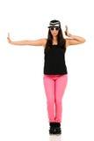 Νέος χορευτής χιπ χοπ brunette Στοκ Εικόνες