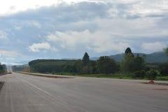 Νέος χτίστε το δρόμο δεν είναι τελειωμένος στοκ εικόνα
