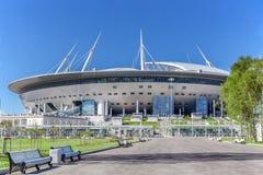Νέος χώρος Άγιος-Πετρούπολη ` ποδοσφαίρου ` στο νησί Krestovsky στη Αγία Πετρούπολη για το Παγκόσμιο Κύπελλο 2018 στοκ φωτογραφία με δικαίωμα ελεύθερης χρήσης