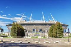 Νέος χώρος Άγιος-Πετρούπολη ` ποδοσφαίρου ` στο νησί Krestovsky στη Αγία Πετρούπολη για το Παγκόσμιο Κύπελλο 2018 στοκ εικόνες