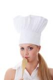 Νέος όμορφος θηλυκός μάγειρας Στοκ φωτογραφία με δικαίωμα ελεύθερης χρήσης